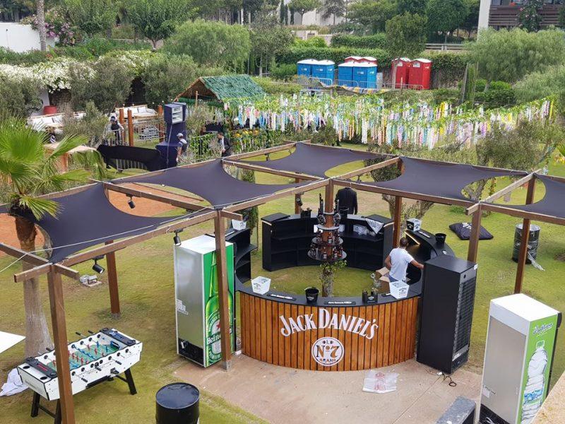 Bar Circulaire Jack Daniel - 12 m circulaire