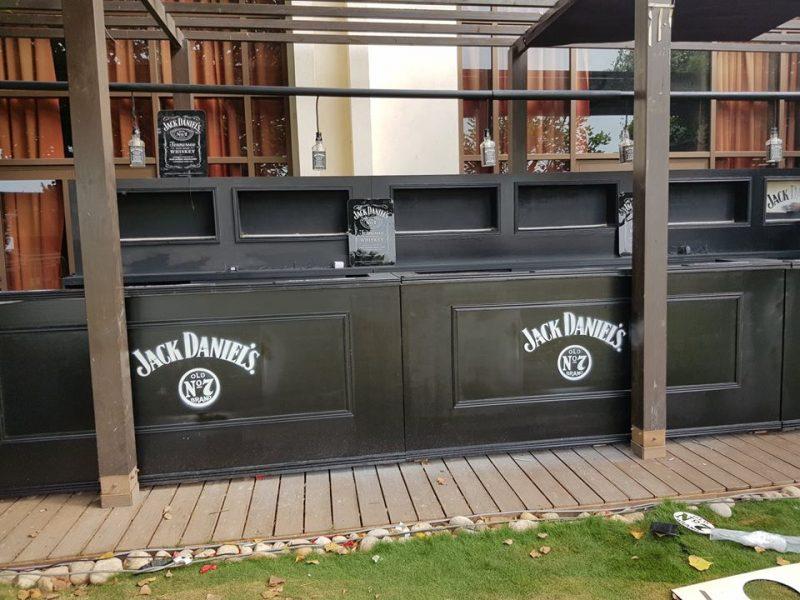 Bar Jack Daniel - 8 m linéaire